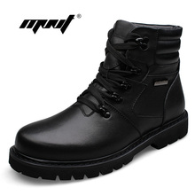 Plus Size Platform Men Winter Shoes Lace-Up Plush Fur Warm Outdoor Men Boots High Quality Keep Warm Ankle Snow Boots Shoes цена в Москве и Питере