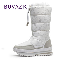 2016 New Warm Snow Boots High Fashion Women Winter Boot Non Slip Thick Cotton Shoes
