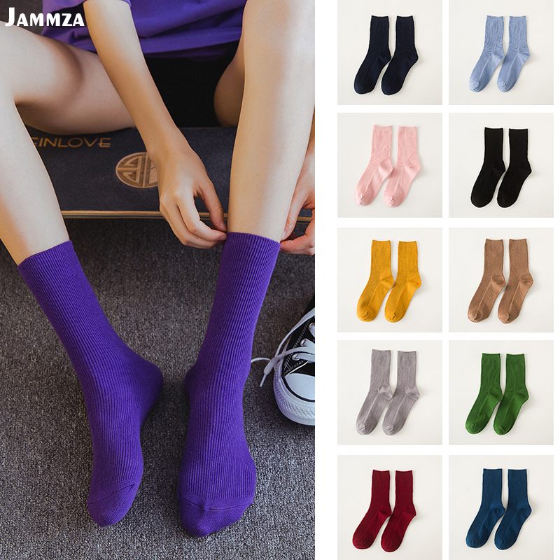 Women candy colorful casual fashion   socks   cotton wild sporty business HOT Pile of   socks   Solid striped cute street hiphop   socks