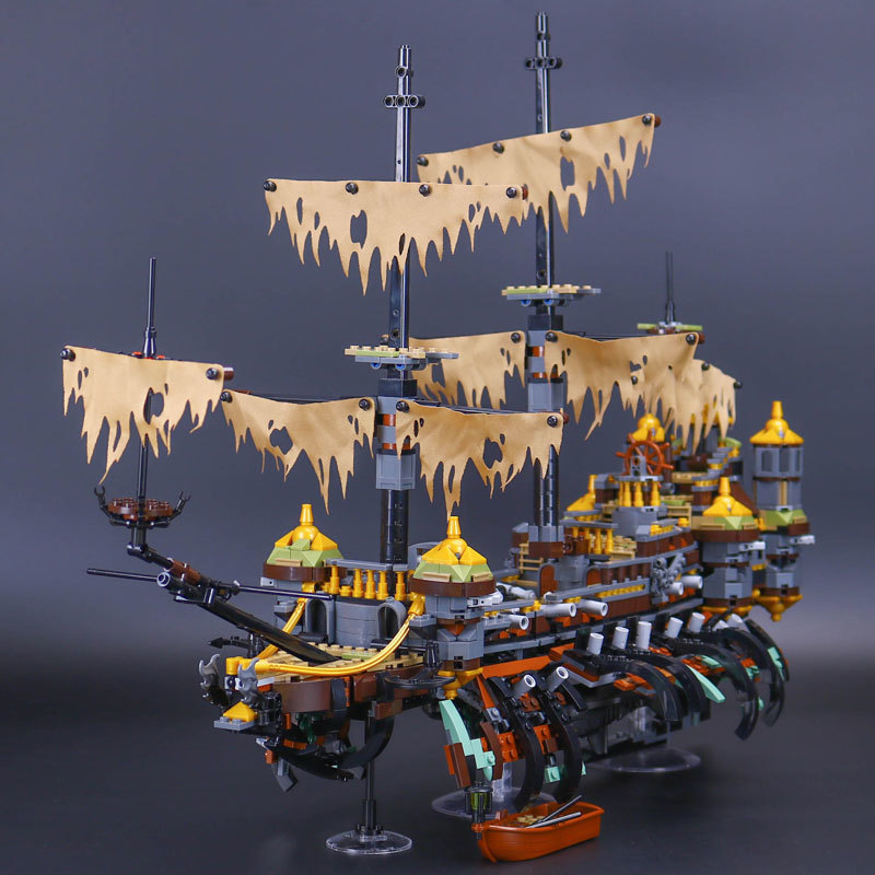 Lepin 16042 2344pcs Pirates of The Caribbean Movie Captain Jack Silent Mary Building Block Bricks Model toys for children 71042 купить