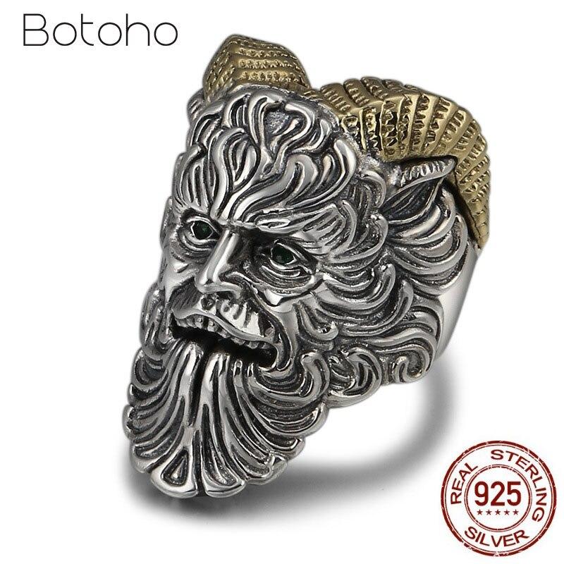Réel 925 en argent Sterling prêtre ouverture anneau hommes femmes réglable anneau avec Zircon yeux bijoux cadeaux de noël bandes de mariage