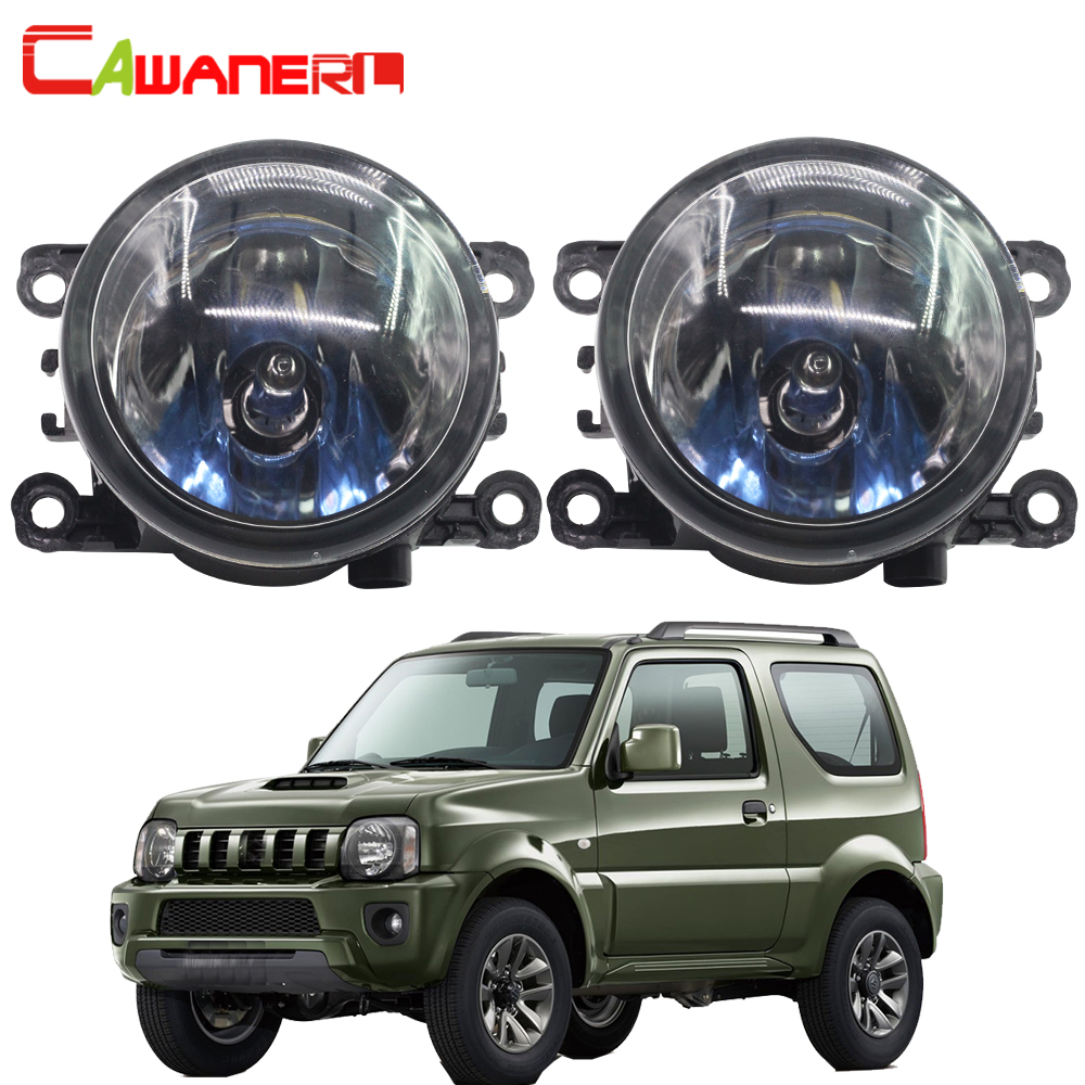 Cawanerl 2 X 100W Car Halogen Front Fog Light Daytime Running Lamp DRL 12V For Suzuki Jimny FJ Closed Off-Road Vehicle 1998-2014 2pcs car styling round front bumper led fog lights drl daytime running driving for suzuki jimny fj closed off road vehicle 98