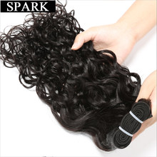 "SPARK Indian Virgin Hair Water Wave 1 Piece/Lot 100% Unprocessed Human Hair Extensions 8""-32"" Hair Weave Bundles Bleachable(China)"