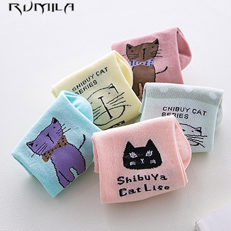 CAT Good Quality Solid Thin Short Women's Socks Female Cotton Low Cut Ankle Socks Ladies Colorful Cute Socks Boat1pair=2pcs WS73