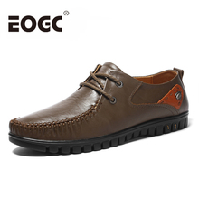 цена на Spring Fashion Men Casual Shoes Breathable Male Shoes high quality Men Genuine Leather Shoes Men Flats Mens Leather Loafers
