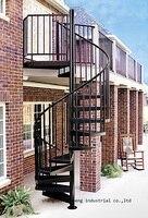 야외 도매 중국어 싼 나선형 계단 제조 업체  작은 공간을위한 계단