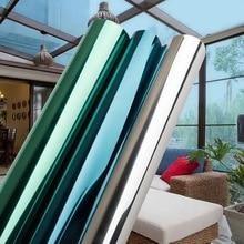 Mirrored Window Film Solar Reflective One Way glass sticker Anti UV decorative Foil Tint Room Building Decor wallpaper 60 x200cm