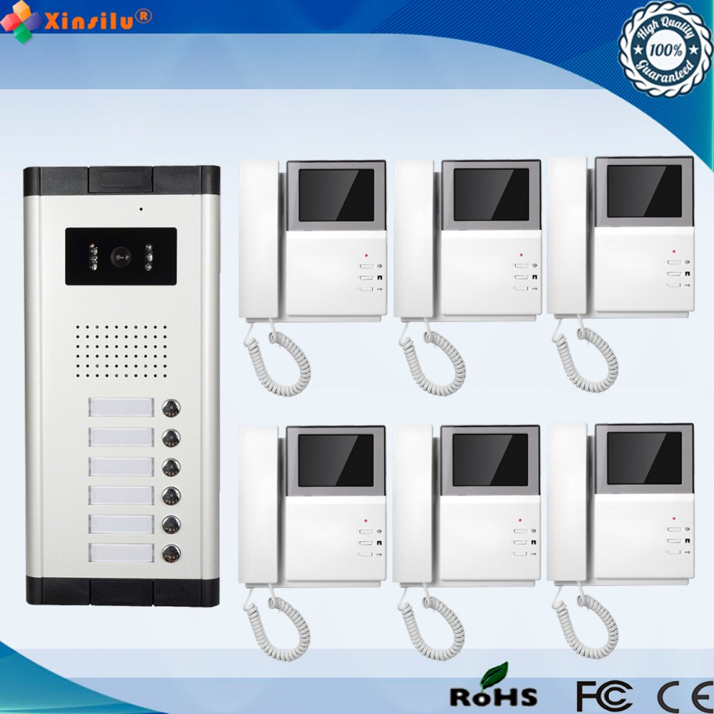 4.3 Inch 1V6 TFT Monitor Wired Intercom Video Door Phone