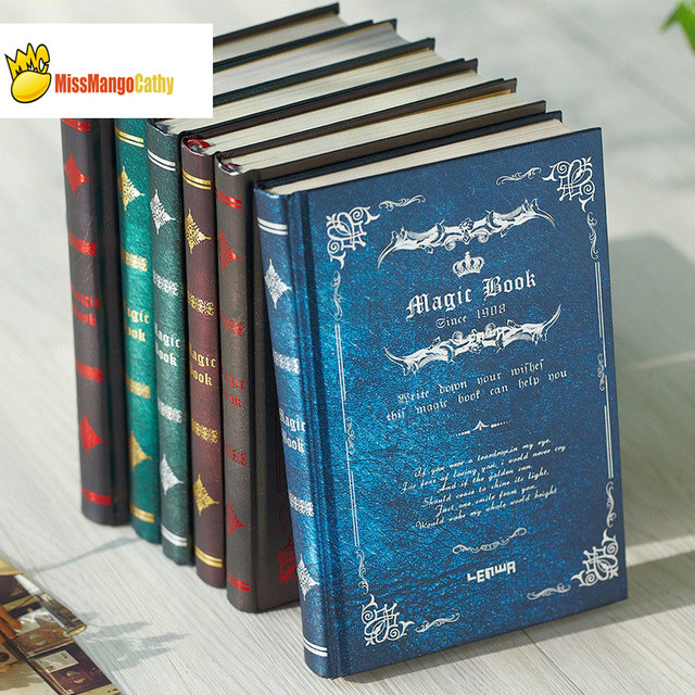 """""""Magic Book"""" Hard Cover Vintage Retro Notebook Journal Diary Freenote Beautiful Stationery Gift"""
