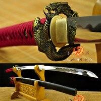 handmade Japanese Samurai Sword Katana 9260 Spring Steel battle ready full tang