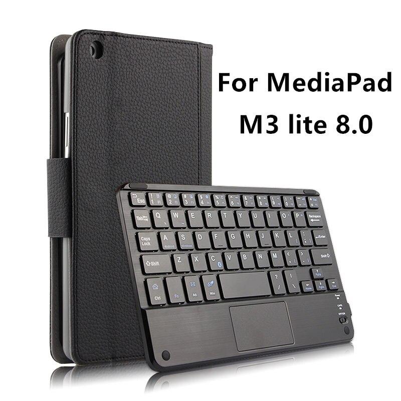 Корпус Беспроводная <font><b>Bluetooth</b></font> клавиатура для Huawei MediaPad M3 Lite 8.0 молодежный чехол Защитный протектор кожа CPN-W09 AL00 8 <font><b>Tablet</b></font>
