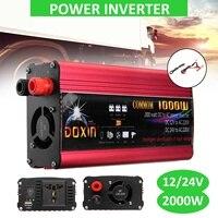 DOXIN High 2000w Universal Car Power Inverter Charger Converter Adapter 220V 12V USB Plug Port Sine Wave Home Inverters Power