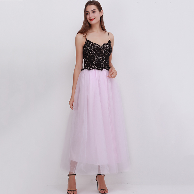 4 Layers 100cm Floor length Skirts for Women Elegant High Waist Pleated Tulle Skirt Bridesmaid Ball Gown Bridesmaid Clothing 24