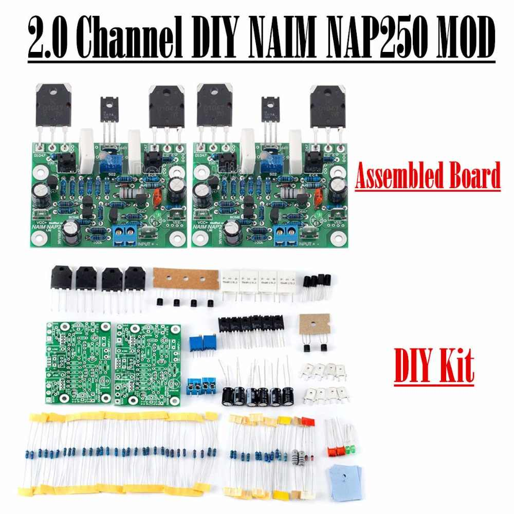 Detail Feedback Questions About Stereo Audio Hifi Class Ab Power Kit Circuits 100w Hiend Amplifier Douk Naim Nap250 Mod 20 Channel Diy Assembled Board
