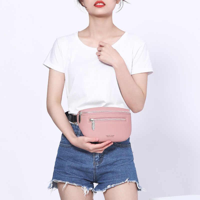 高級マルチ関数 a 女性のファニーパックショルダーバッグと胸バッグ女性ベルト嚢女性の高品質の女性のボルサ