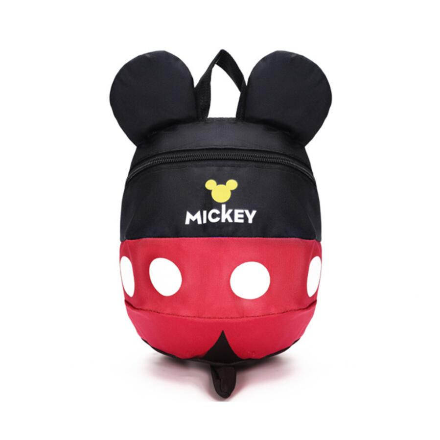Cute Minnie Mickey Children Cartoon School Backpack For 0-3 years old Boys And Girls Anti-lost Lovely Cartoon Schoolbag