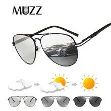 f364605a36679 MUZZ Camaleão Polarizada Homens óculos de sol 2018 Lentes Fotocromáticas  óculos de sol Das Mulheres de Condução Motorista Óculos.