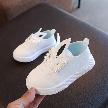AFDSWG spring and autumn faux leather pink sneakers boys green shoes for children white kids girls