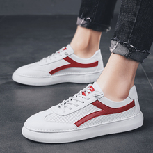 2019 new mens microfiber leather casual shoes luxury brand breathable flat bottom lace-up tenis masculino