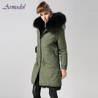 Mrs Brand Fur Jacket Black Real Fox Fur Jacket Women WindCoat Winter Warming Thick Fur Natural