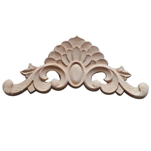 Diplomatisch Nhbr-1x Exquisite Classic Rubber Hout Gesneden Applique Retro Meubels Craft Decor Hout Kleur 20*8 Cm Nieuw (In) Ontwerp;