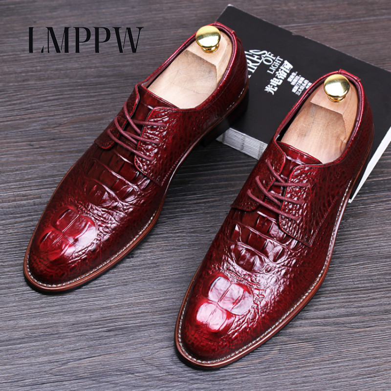 Famous Brand Men's Dress Wedding Shoes Black Red  Blue Yellow British Style Men Brogue Genuine Leather Shoes Fashion Oxfords 8 eu38 44 black brown color fashion style men s shoes genuine leather handmade round toe dress wedding brogue oxfored shoes