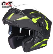 GXT Motorcycle Helmet Flip Up Motocross Helmets Men Full Face Moto Helmets Motorcycle Capacete Casco Moto With Doublel Lens