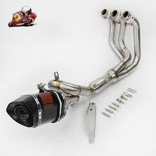 Мотоцикл Полный выхлопных газов Системы скольжения на Yamaha MT09 FZ09 2014-2018 XSR900 глушитель труб