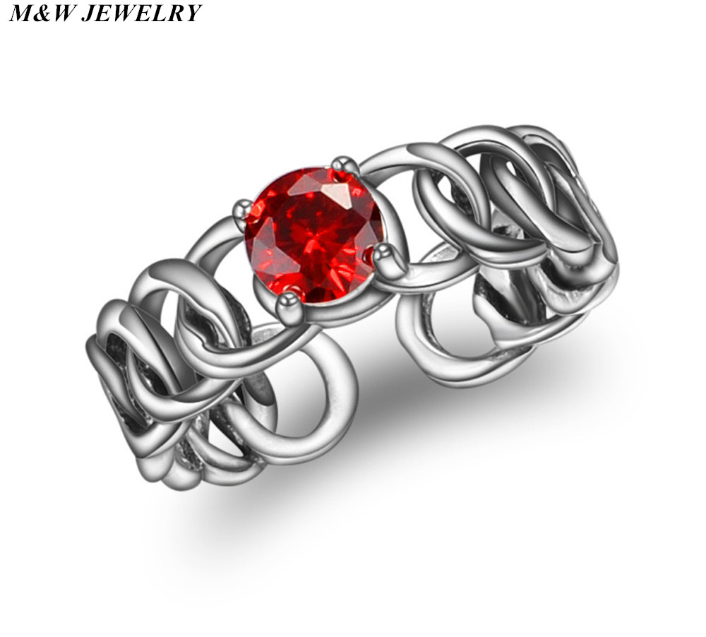 M&W JEWELRY 2017 Fashion Hot Thai Silver Open Ring Vintage Jewelry for Women Woven Antique Silver Ring Jewelry