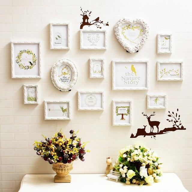 3D Carved Wood Picture Frames Sets Wall Decor,14 pcs/set Love ...