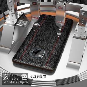 Image 5 - Del Cuoio genuino di Lusso di Caso Per Huawei Mate 20 Pro Compagno di 20 X 20X Pelle Bovina Pieno di Protezione di Sostegno Della Copertura di adsorbimento magnete