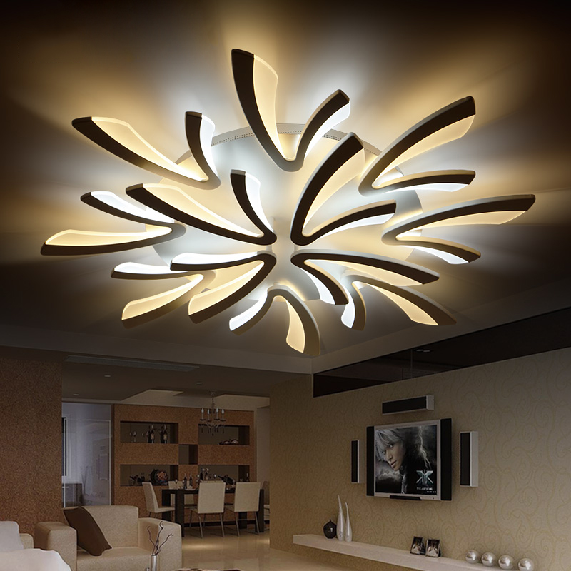 NEO Gleam Acrylic thick Modern led ceiling chandelier lights for living room bedroom dining room home