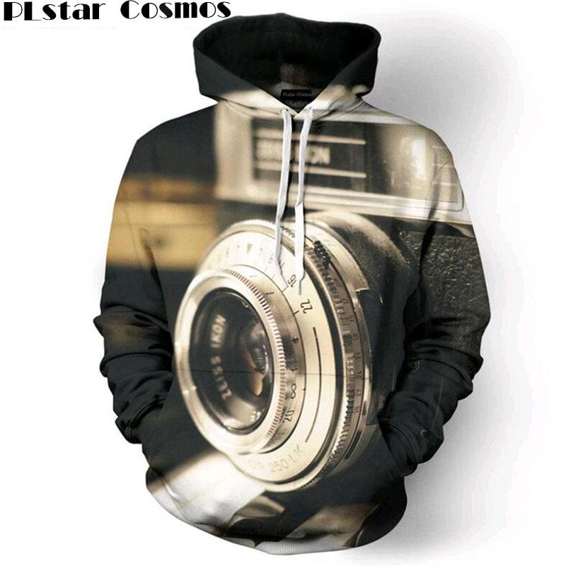 Men Photographers Lens 3D All Over Print Pullover unisex Hoodies Hip Hop Hipster Jumper Sportwear Size S-5XL C05