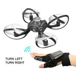 Najlepsze Wifi FPV 480P HD dron z kamerą Valcano rękawice sterowanie interaktywne mini drone kwadrokopter z kamerą helikopter rc