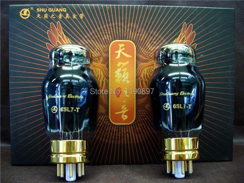 NEW SHUGUANG Matched Pair 6SL7 T HIFI ELECTRON Tube Replace 6SL7 6N9P 6H9C Vacuum Tube 2PCS Free Shippingelectronic tubehifi tubetube electronic -