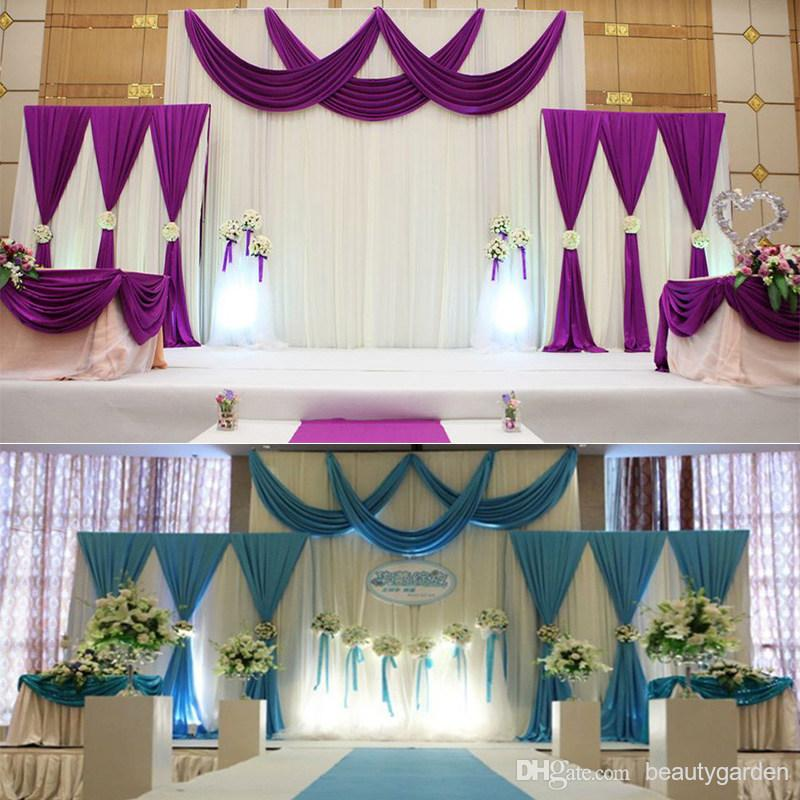 Aliexpress Buy Satin Fabric Drape Curtain Party