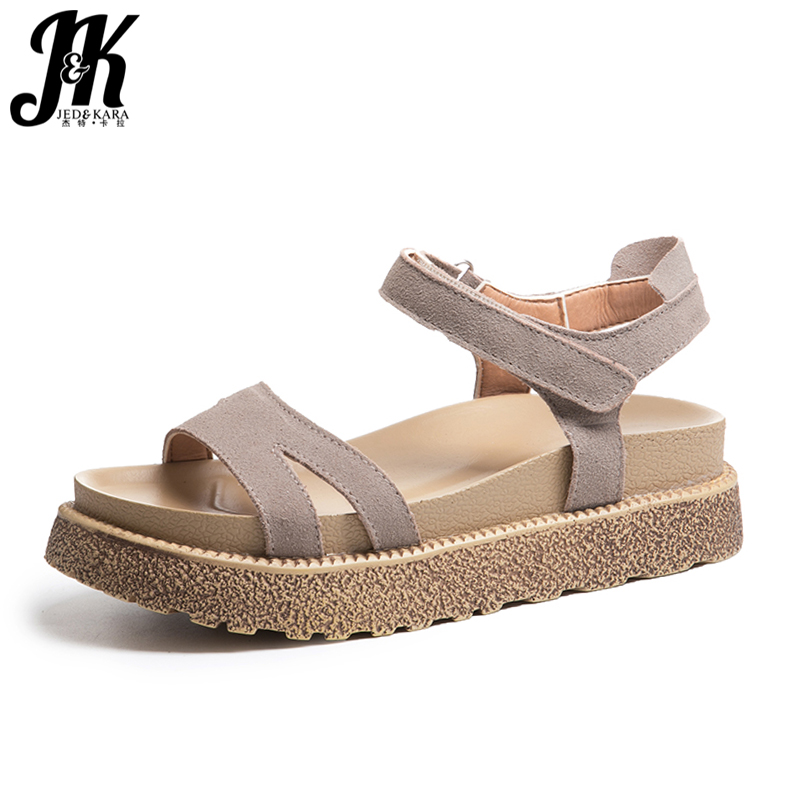 JK 2018 High Heeled Summer Women Sandals New Hook Open Toe Wedges Sandals Shoes Platform Footwear Casual Fashion Ladies Shoes facndinll new women summer sandals 2018 ladies summer wedges high heel fashion casual leather sandals platform date party shoes