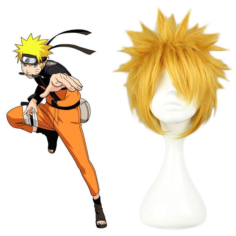 Coshome Naruto Wigs Kakashi Hinata Sakura Cosplay Costume White Yellow Pink Black Wig With Headbands (3)