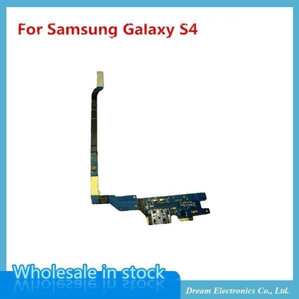 imágenes para 10 unids/lote Pieza de Reparación para Samsung GALAXY S4 i9505 i337 i9500 Cargador USB Flex Cable con Micrófono puerto de carga del muelle conector