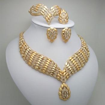 2019 Kingdom Ma Fashion African Dubai Gold Jewelry Women African Beads Set Nigerian Bridal Jewelry Sets Wedding Accessories