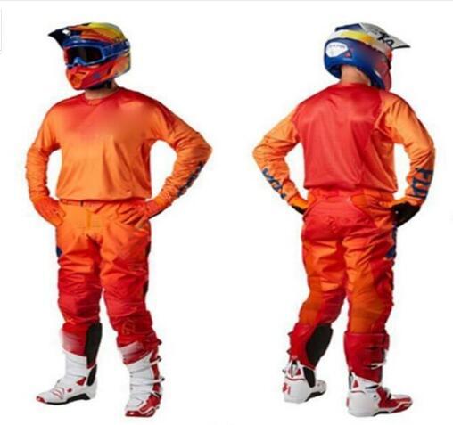 Orange Men's 360-05 Motocross off road Gear Set MX Jersey Pant Moto Motorcycle Racing Suit (jersey+pants) one set