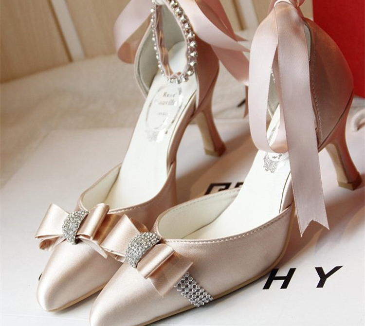 Aliexpress.com : Buy Custom Made Elegant Bridal Wedding Shoes ...