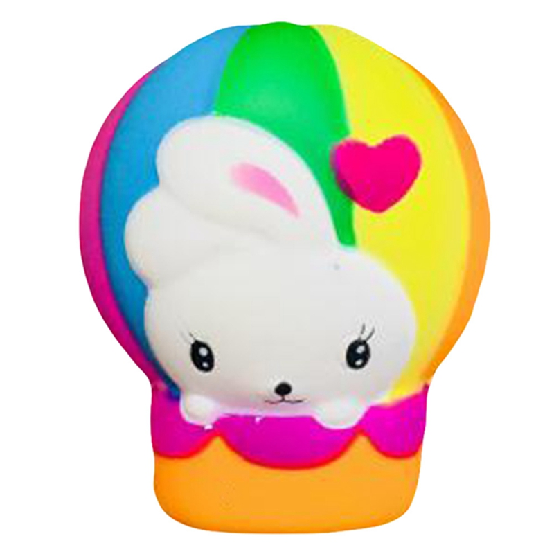 2018 Popular Among Children Hot Air Balloon Rabbit Slow Rebound Squeeze Rabbit Funny Toy