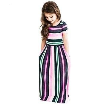 Maxi Girls Summer Dresses Elegant Kids Clothes Unicorn Dress Infantil Autumn 2018 Baby Girls Dress Long Bohemian Vestidos Menina