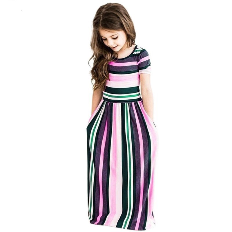 цены Maxi Girls Summer Dresses Elegant Kids Clothes Unicorn Dress Infantil Autumn 2018 Baby Girls Dress Long Bohemian Vestidos Menina