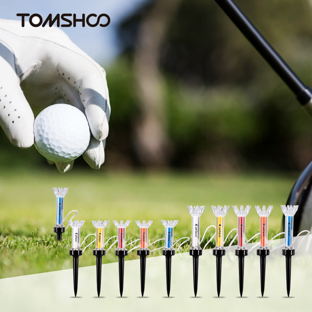 LIXADA 5Pcs 79mm/90mm Golf Tee Training Magnetic Step Durable Ball Holder Golf