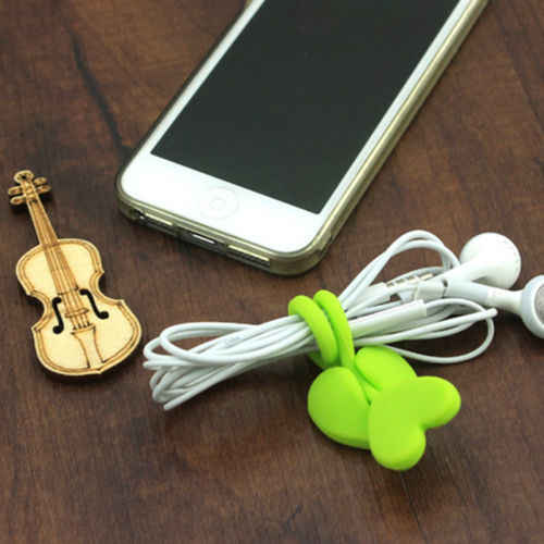 2pcs Multi-purpose Silicone Food Bag Sealing Clips Love Heart Beam Port Cable Tie