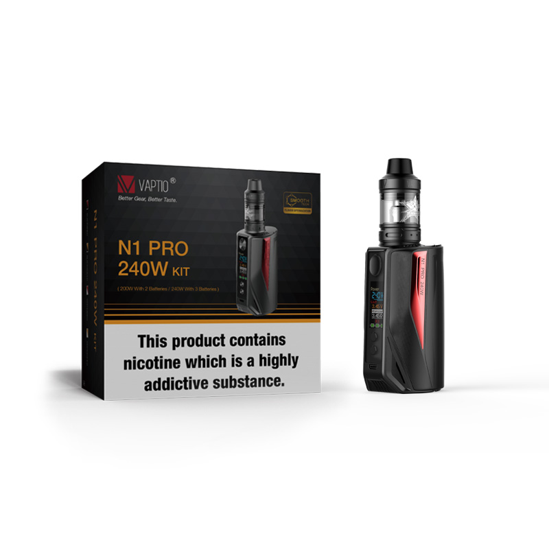 Vape Kit Original Vaptio N1 Pro 240W KIT Electronic Cigarette With atomizer 2.0ml Box MOD fit TFV12/tfv8 tank