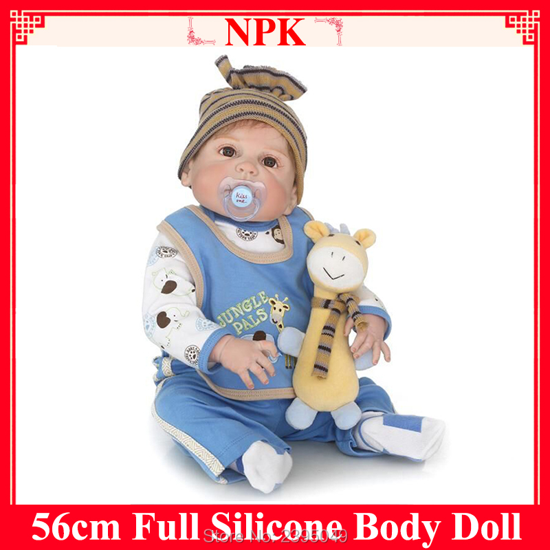 New Fashion Doll Full Silicone Body Cameron Face Awake Realistic Silicone Adora Real Touch Newborn Babies Gift With A Plush Toy