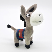 Kawaii Little Donkey Plush Keychain Toys Cute Mini Pendant Soft Stuffed Animals Doll Girls Bag